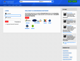 network.convergenceservices.in screenshot