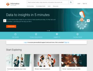 network.informatica.com screenshot