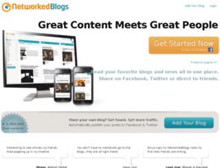 networkedblogshr.appspot.com screenshot