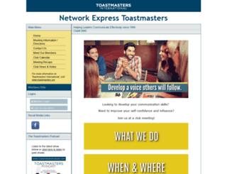 networkexpress.toastmastersclubs.org screenshot