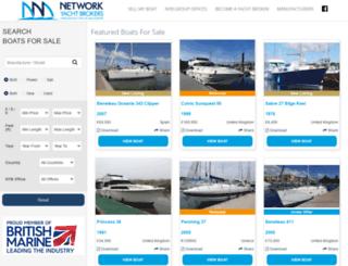 networkyachtbrokers.co.uk screenshot