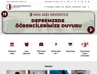 neu.edu.tr screenshot