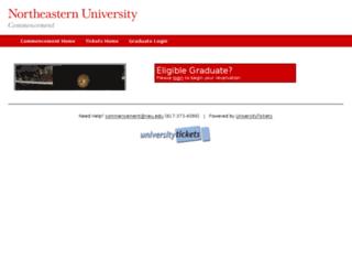 neucommencement.universitytickets.com screenshot