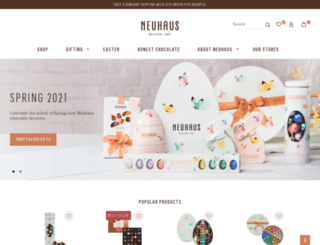 neuhauschocolate.com screenshot