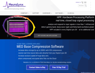 neuralynx.com screenshot