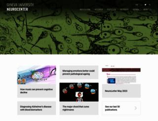 neurocenter.unige.ch screenshot
