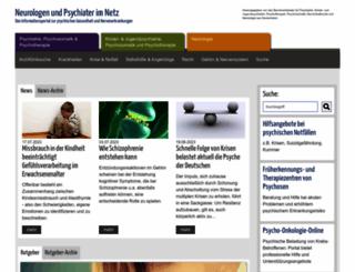 neurologen-und-psychiater-im-netz.de screenshot