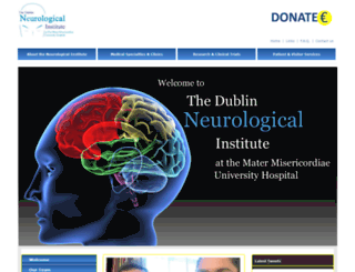 neurologicalinstitute.ie screenshot