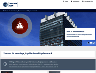 neurologie-psychiatrie.uk-koeln.de screenshot