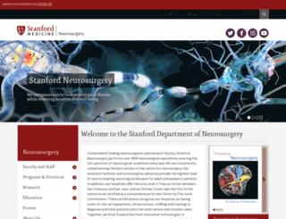 neurosurgery.stanford.edu screenshot