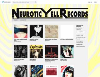neuroticyellrecords.bandcamp.com screenshot