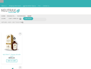 neutrax.com.my screenshot