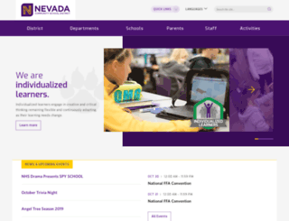 nevada.k12.ia.us screenshot