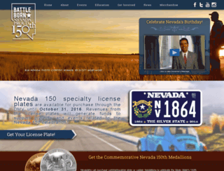 nevada150.org screenshot