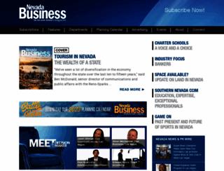 nevadabusiness.com screenshot