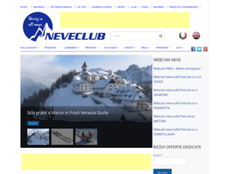 neveclub.it screenshot