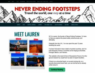 neverendingfootsteps.com screenshot