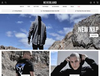 neverlandstore.com.au screenshot