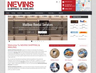 nevinshipping.com screenshot