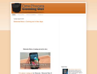 new-phones-coming-out.blogspot.com screenshot