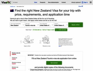 new-zealand.visahq.com screenshot