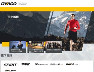 new.dyaco.com screenshot