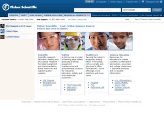 new.fishersci.com screenshot