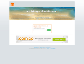 new.fridayscolombia.com.co screenshot