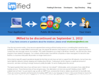 new.imified.com screenshot