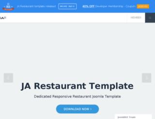 new.joomlart.com screenshot