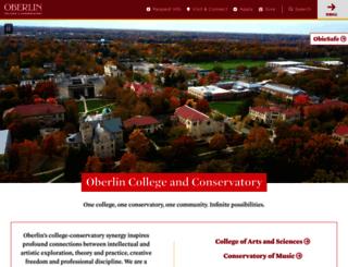new.oberlin.edu screenshot