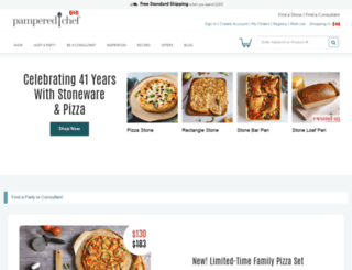 new.pamperedchef.ca screenshot