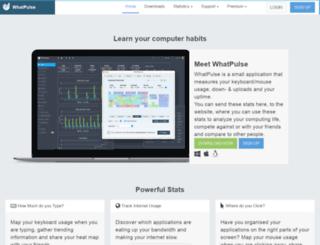 new.whatpulse.org screenshot