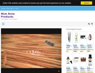 newacneproducts.net screenshot