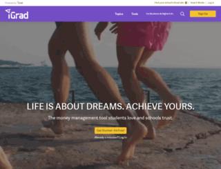 newadmin.igrad.com screenshot