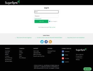 newageproducts.sugarsync.com screenshot