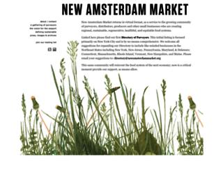newamsterdammarket.org screenshot