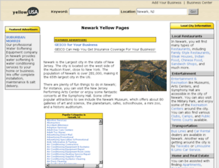 newark-nj.yellowusa.com screenshot