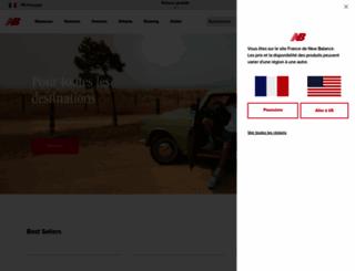 newbalance.fr screenshot