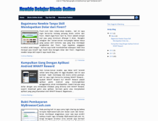 newbie-bisnis-online.blogspot.com screenshot