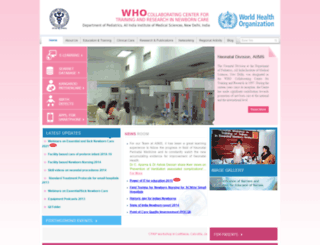 newbornwhocc.org screenshot