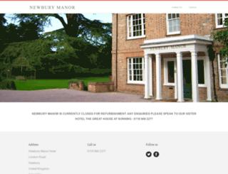 newbury-manor-hotel.co.uk screenshot