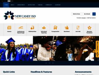 newcaneyisd.org screenshot
