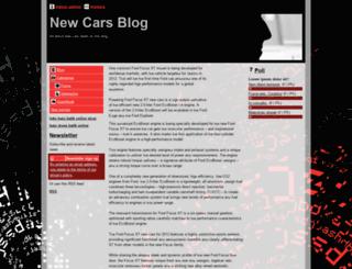 newcarsblog.webgarden.com screenshot