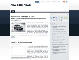 newcarsnews2.blogspot.com screenshot