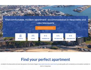 newcastleapartments.com.au screenshot