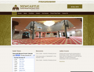 newcastlecentralmosque.org.uk screenshot