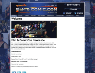 newcastlefilmandcomiccon.com screenshot