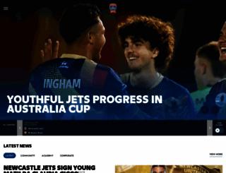 newcastlejets.com.au screenshot