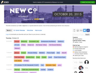 newcoistanbul2015.sched.org screenshot
